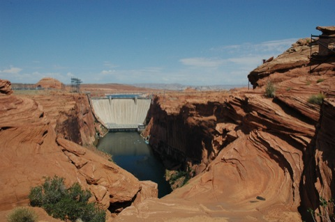 glen canyon dam bij lake powell
