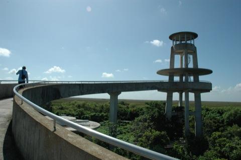 uitkijktoren in everglades