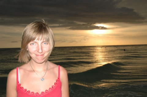 zonsondergang siesta key beach
