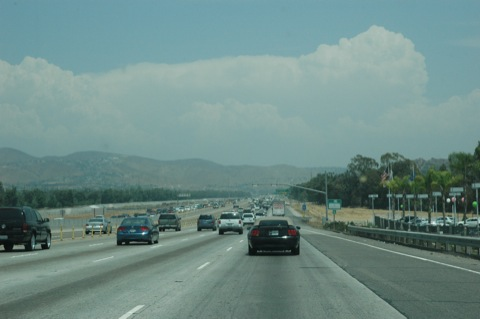 drukke autosnelweg