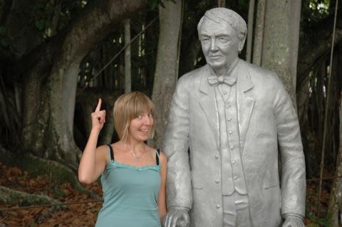 Marieke en Thomas Edison