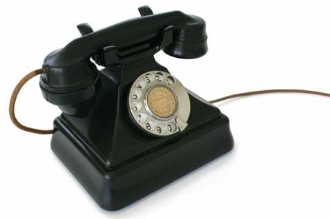 telefoon met draad