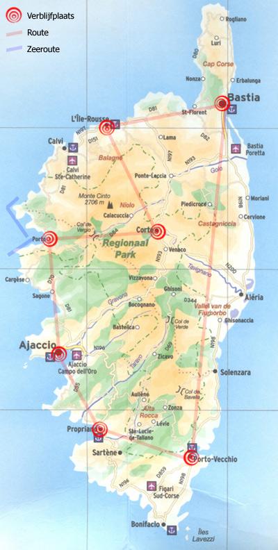 Route Corsica